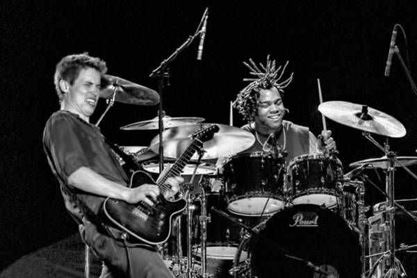 Photograph - Barry Alexander Drumming For Johnny Lang by Ginger Wakem