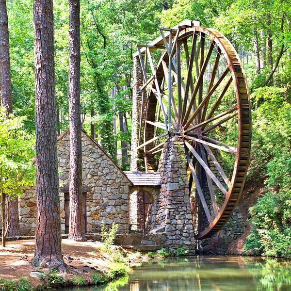 Photograph - Berry College's Old Mill - Square by Gordon Elwell