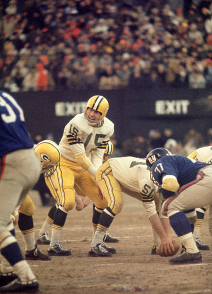 Wall Art - Photograph - Bart Starr Calls Out The Snap by Retro Images Archive