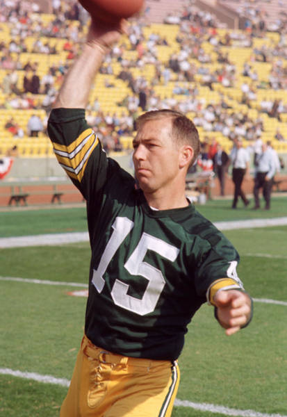 Warming Up Wall Art - Photograph - Bart Starr Pregame  by Retro Images Archive