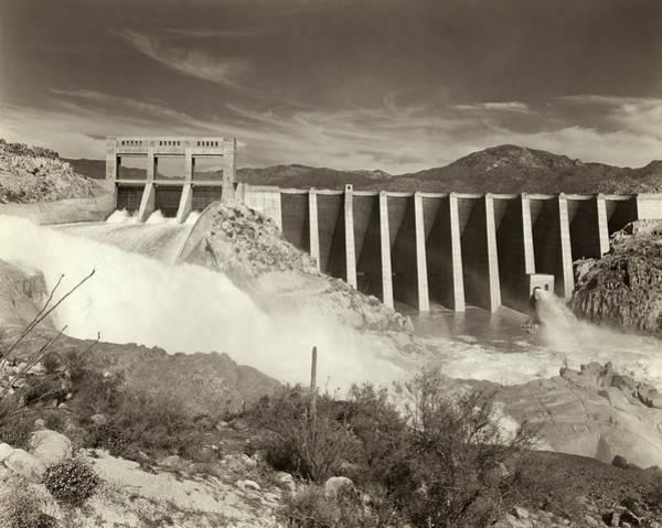 Wall Art - Photograph - Bartlett Dam, C1938 by Granger