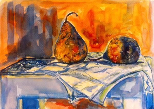 Painting - Bartlett Pears by Kendall Kessler