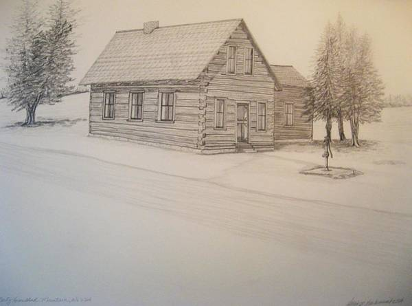 Pump Drawing - Bartz Homestead by Kathleen Barlament