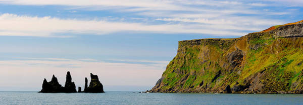 Basalt Photograph - Basalt Rock Formations In The Sea, Vik by Panoramic Images
