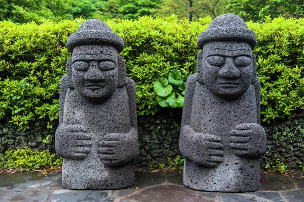 Basalt Photograph - Basalt Statues In Seogwipo by Michael Runkel
