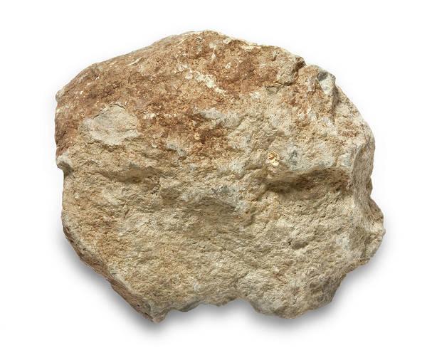 Tuff Wall Art - Photograph - Basalt Tuff Rock by Natural History Museum, London/science Photo Library