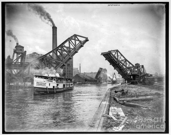 Photograph - Bascule Bridge by Russell Brown