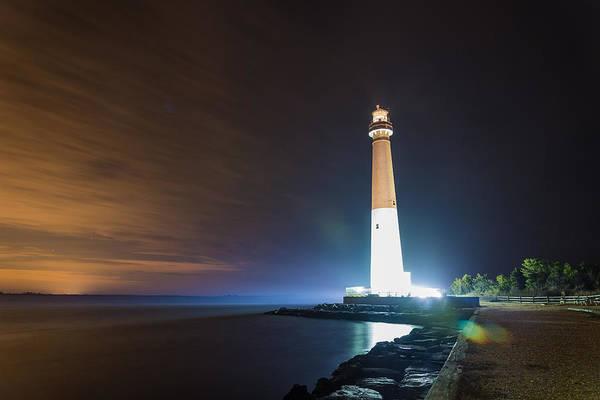 Barnegat Lighthouse Photograph - Base Lights by Kristopher Schoenleber