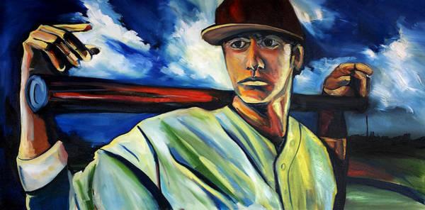 Painting - Baseball 1 by John Jr Gholson