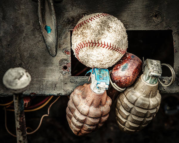 Photograph - Baseball And Hand Grenades by Gary Heller