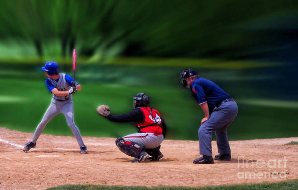 Hs Photograph - Baseball Batter Up by Thomas Woolworth