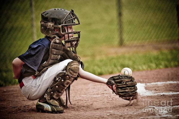 Wall Art - Photograph - Baseball Catcher by Jt PhotoDesign