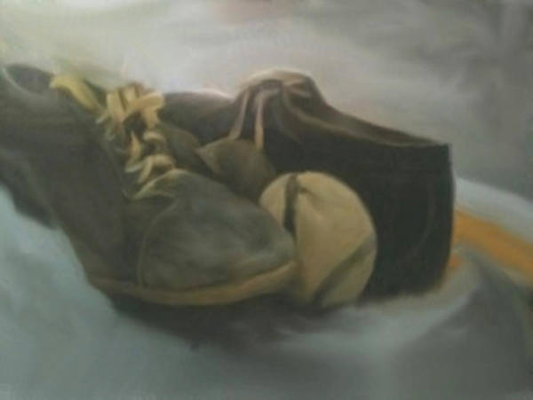Painting - Baseball Cleats by Dennis Buckman