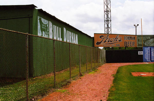 Photograph - Baseball Field Bull Durham Sign by Frank Romeo