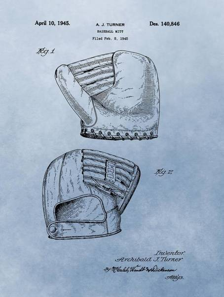 Babe Mixed Media - Baseball Glove Patent 2 by Dan Sproul