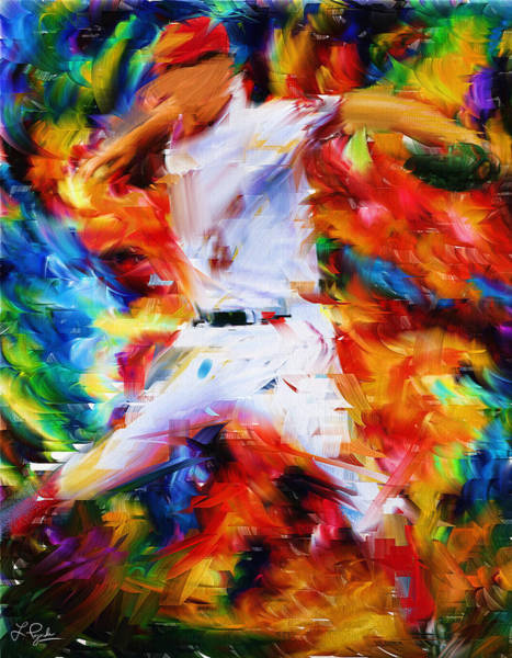 Digital Art - Baseball  I by Lourry Legarde