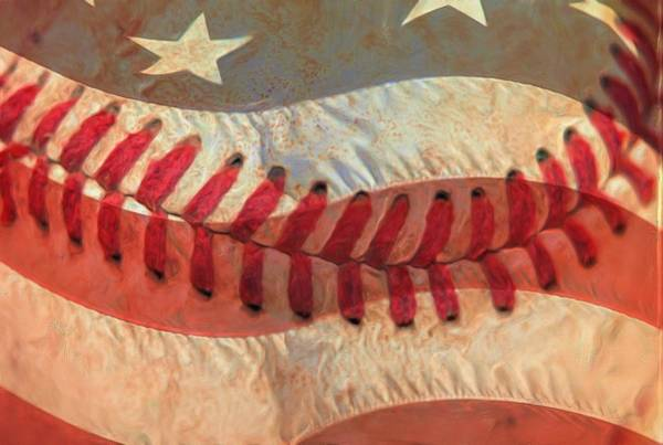 Wall Art - Photograph - Baseball Is Sewn Into The Fabric by Heidi Smith