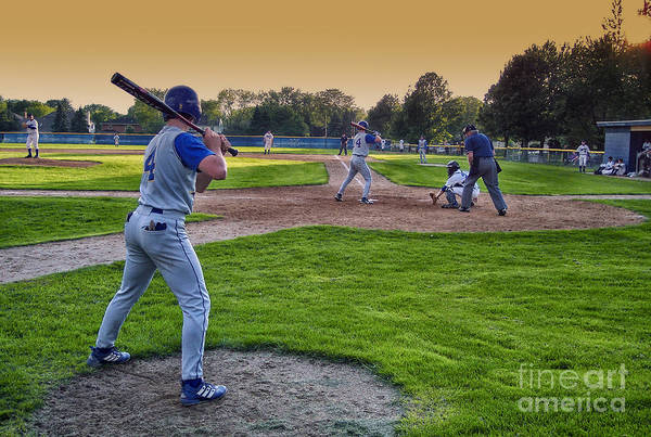 Hs Photograph - Baseball On Deck Circle by Thomas Woolworth