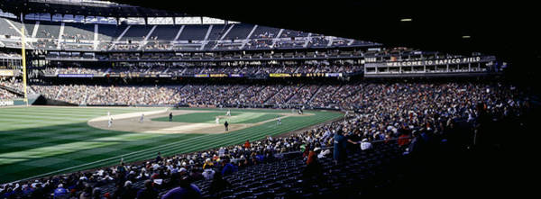 Safeco Field Photograph - Baseball Players Playing Baseball by Panoramic Images