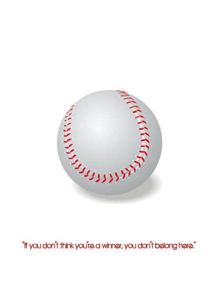 Digital Art - Baseball Quote Minimalist Sports Poster by Adam Asar