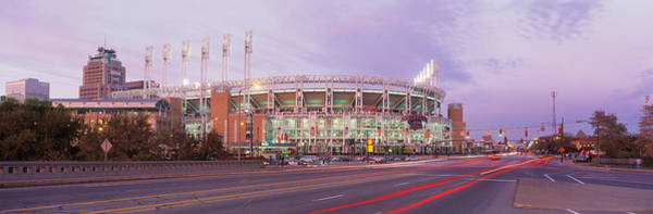 Cleveland Scene Photograph - Baseball Stadium At The Roadside by Panoramic Images