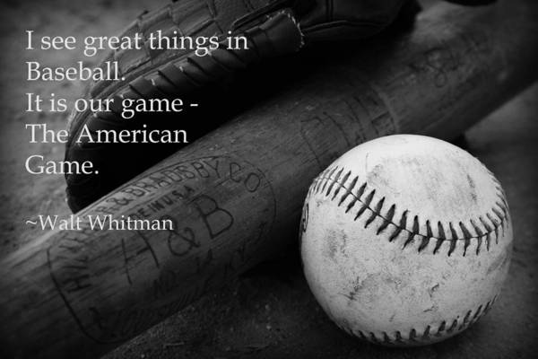 Photograph - Baseball Walt Whitman by Kelly Hazel