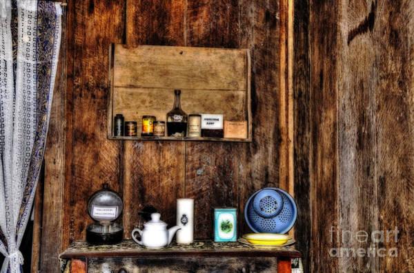 Wall Art - Photograph - Basic Kitchen - 19th Century by Kaye Menner