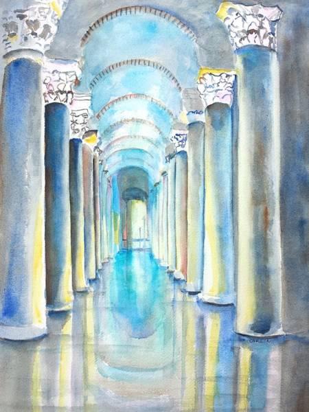 Illumination Painting - Basilica Cistern Istanbul Turkey by Carlin Blahnik CarlinArtWatercolor