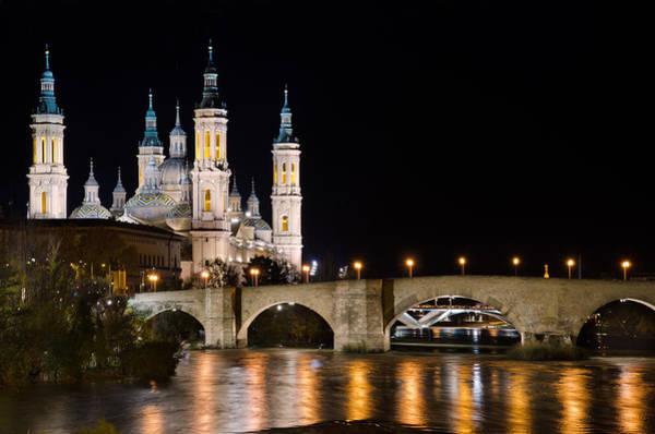 Photograph - Basilica De El Pilar In Zaragoza by Pablo Lopez