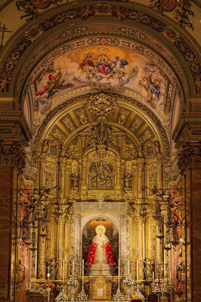 Photograph - Basilica De La Macarena Interior by Joan Carroll
