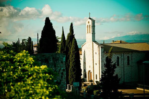 Basilica In Assisi  Art Print