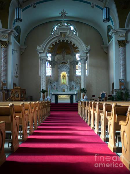 Photograph - Basilica Of Saint Stanislaus Kostka Interior Center by Kari Yearous