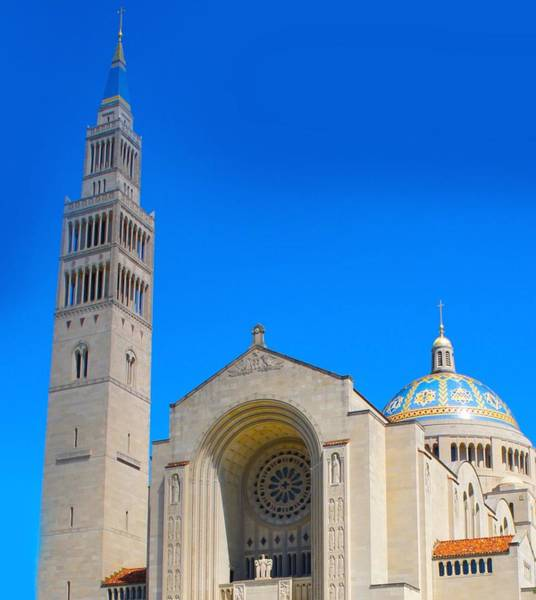 Wall Art - Photograph - Basilica Of The National Shrine by Art Spectrum