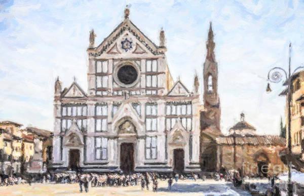 Croce Digital Art - Basilica Santa Croce by Liz Leyden