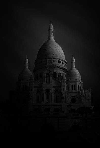 Cathedral Photograph - Basilique Du Sacre Coeur by Sebastien Del Grosso