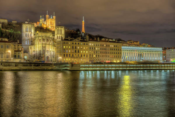 Rhone River Photograph - Basilique Notre-dame And Tour Metallique by Hans Georg Eiben