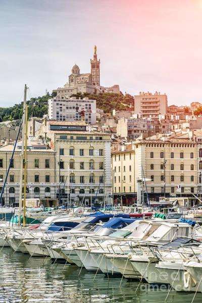 Photograph - Basilique Notre-dame De La Garde From The Vieux Port Of Marseille by Pier Giorgio Mariani