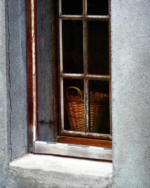 Basket In Window Art Print