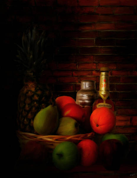 Pineapples Digital Art - Basket Of Colors by Lourry Legarde