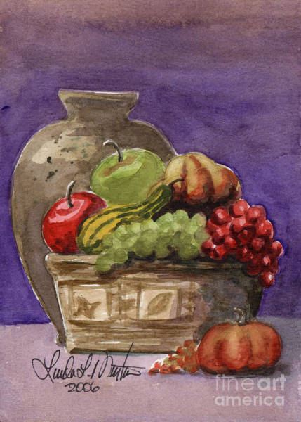 Painting - Basket Of Fruit by Linda L Martin