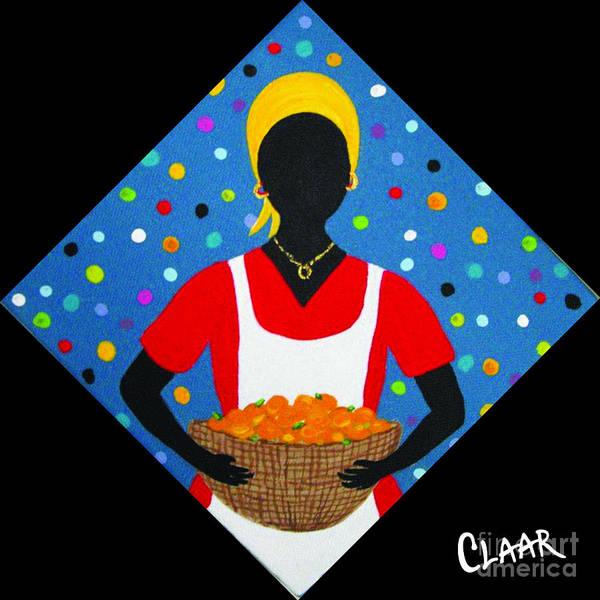 Gullah People Wall Art - Painting - Basket Of Peaches by Samantha Claar