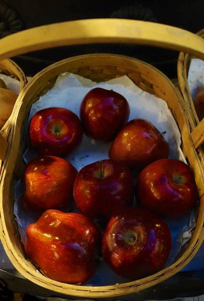 Photograph - Basket Of Red Apples by Joan Reese