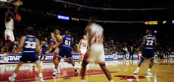Chicago Bulls Photograph - Basketball Match In Progress, Chicago by Panoramic Images