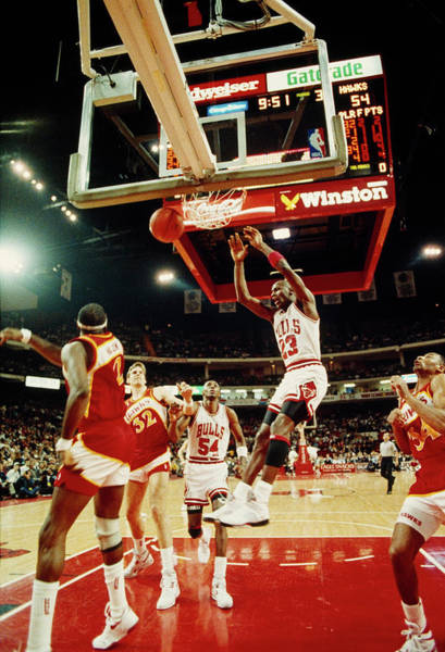 Chicago Bulls Photograph - Basketball Match In Progress, Michael by Panoramic Images