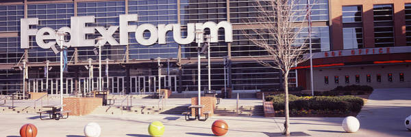 Memphis Grizzlies Wall Art - Photograph - Basketball Stadium In The City, Fedex by Panoramic Images