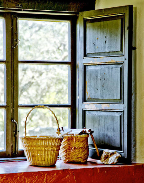 Photograph - Baskets In A Window by Charles McKelroy