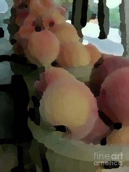Photograph - Baskets Of Peaches by Donna Cavanaugh