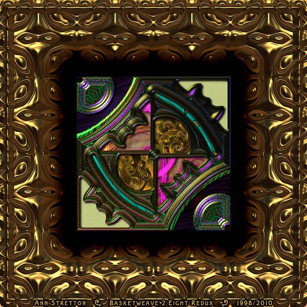 Digital Art - Basketweave Eight  by Ann Stretton