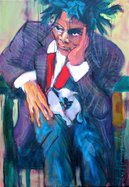 Painting - Basquiat by Les Leffingwell