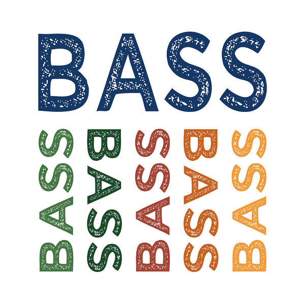 Bassist Wall Art - Digital Art - Bass Cute Colorful by Flo Karp